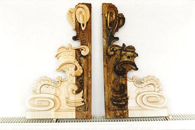 Ergänzungen der Ornamente eines barocken Epitaphs