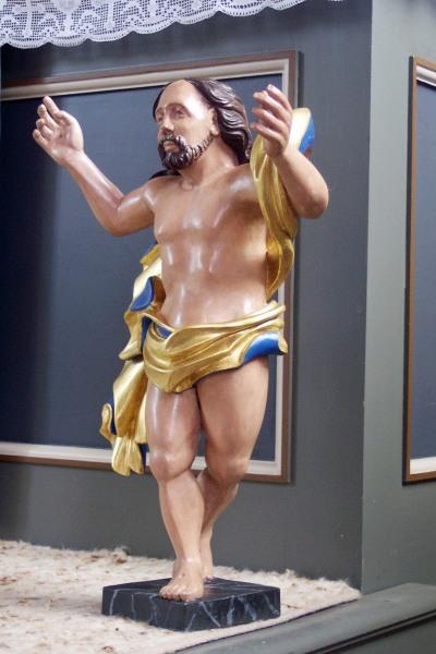 Vollstsändig rekonstruierte Christusfigur - farbige Fassung/Bemalung Jürgen Diederich