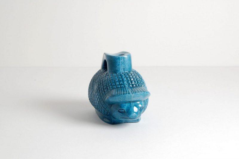 Igel Steinguss, bemalt und glasiert, 9x5,5x6,5cm, 80,-€