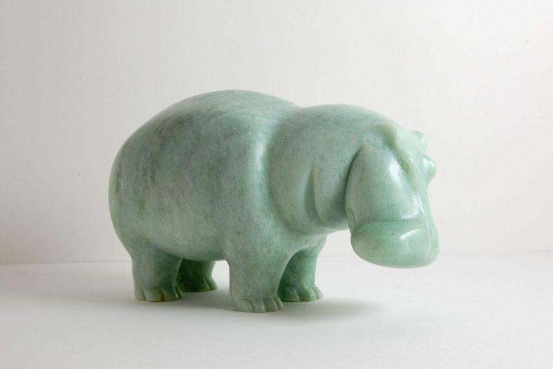 Nilpferd Speckstein, H 11,5 cm, L 20 cm, 670,-€