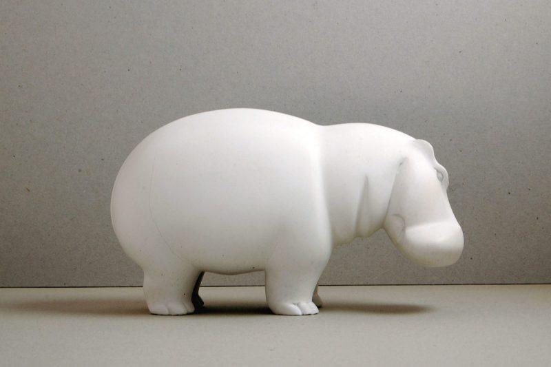 Nilpferd Steinguss, H 11,5 cm, L 20 cm, 240,-€