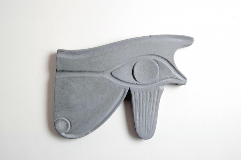 Udjat-Auge Steinguss, H 14,5 cm, L 11 cm, 30,-€