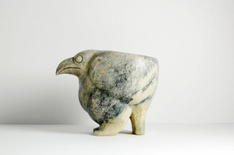Vogelgeräß Speckstein, H 12,5cm, L 15,5cm,  490,-€